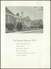 Page 5, 1952 Edition, Salem High School - Fenwick Papers Yearbook (Salem, NJ) online yearbook collection