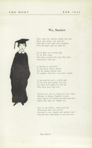 Page 13, 1924 Edition, Park Ridge High School - Hoot Yearbook (Park Ridge, NJ) online yearbook collection