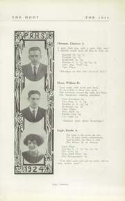 Page 15, 1924 Edition, Park Ridge High School - Hoot Yearbook (Park Ridge, NJ) online yearbook collection
