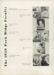 Page 14, 1939 Edition, Park Ridge High School - Hoot Yearbook (Park Ridge, NJ) online yearbook collection