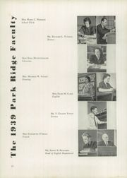 Page 16, 1939 Edition, Park Ridge High School - Hoot Yearbook (Park Ridge, NJ) online yearbook collection