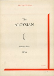 Page 7, 1936 Edition, St Aloysius High School - Aloysian Yearbook (Jersey City, NJ) online yearbook collection