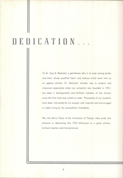 Page 12, 1954 Edition, University of Tampa - Moroccan Yearbook (Tampa, FL) online yearbook collection