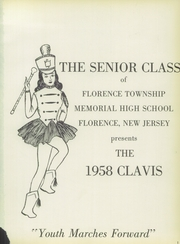 Page 5, 1958 Edition, Florence Township Memorial High School - Clavis Yearbook (Florence, NJ) online yearbook collection
