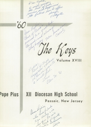Page 5, 1960 Edition, Pope Pius XII Diocesan High School - Keys Yearbook (Passaic, NJ) online yearbook collection