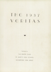 Page 7, 1937 Edition, St Marys High School - Veritas Yearbook (Rutherford, NJ) online yearbook collection