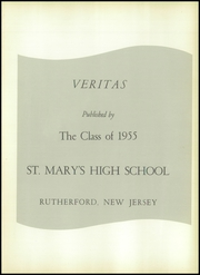 Page 5, 1955 Edition, St Marys High School - Veritas Yearbook (Rutherford, NJ) online yearbook collection