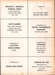 Page 65, 1958 Edition, Clayton High School - Clipper Yearbook (Clayton, NJ) online yearbook collection