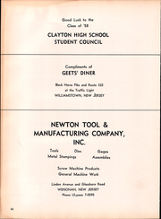 Page 66, 1958 Edition, Clayton High School - Clipper Yearbook (Clayton, NJ) online yearbook collection