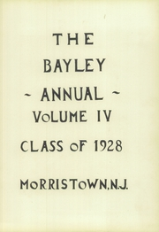 Page 9, 1928 Edition, Bayley Ellard High School - Mitre Yearbook (Madison, NJ) online yearbook collection