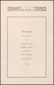 Page 5, 1946 Edition, Sacred Heart High School - Vine Leaves Yearbook (Vineland, NJ) online yearbook collection