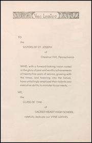 Page 7, 1946 Edition, Sacred Heart High School - Vine Leaves Yearbook (Vineland, NJ) online yearbook collection