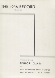 Page 7, 1936 Edition, Merchantville High School - Record Yearbook (Merchantville, NJ) online yearbook collection