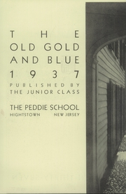 Page 8, 1937 Edition, Peddie School - Old Gold and Blue Yearbook (Hightstown, NJ) online yearbook collection