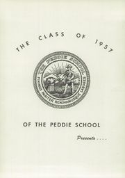 Page 5, 1957 Edition, Peddie School - Old Gold and Blue Yearbook (Hightstown, NJ) online yearbook collection