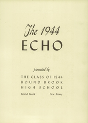 Page 7, 1944 Edition, Bound Brook High School - Echo Yearbook (Bound Brook, NJ) online yearbook collection