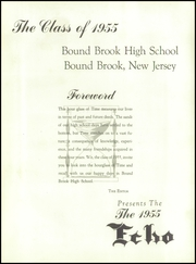 Page 5, 1955 Edition, Bound Brook High School - Echo Yearbook (Bound Brook, NJ) online yearbook collection