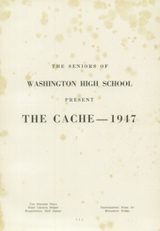 Page 3, 1947 Edition, Washington High School - Cache Yearbook (Washington, NJ) online yearbook collection