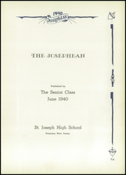 Page 5, 1940 Edition, St Joseph High School - Josephean Yearbook (Paterson, NJ) online yearbook collection