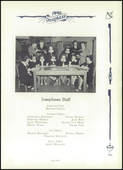 Page 9, 1940 Edition, St Joseph High School - Josephean Yearbook (Paterson, NJ) online yearbook collection
