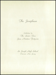Page 5, 1941 Edition, St Joseph High School - Josephean Yearbook (Paterson, NJ) online yearbook collection