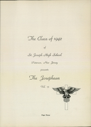 Page 7, 1942 Edition, St Joseph High School - Josephean Yearbook (Paterson, NJ) online yearbook collection