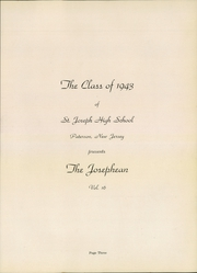 Page 5, 1943 Edition, St Joseph High School - Josephean Yearbook (Paterson, NJ) online yearbook collection