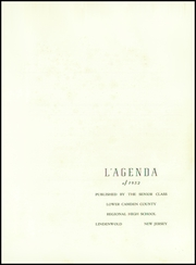 Page 5, 1952 Edition, Lower Camden County High School - L Agenda Yearbook (Lindenwold, NJ) online yearbook collection