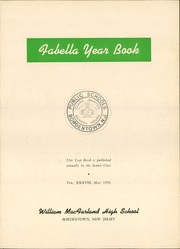 Page 7, 1950 Edition, Macfarland High School - Fabella Yearbook (Bordentown, NJ) online yearbook collection