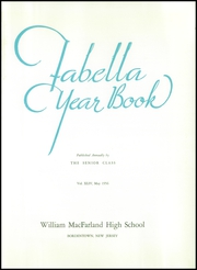 Page 5, 1956 Edition, Macfarland High School - Fabella Yearbook (Bordentown, NJ) online yearbook collection