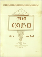 Page 7, 1930 Edition, Flemington High School - Echo Yearbook (Flemington, NJ) online yearbook collection