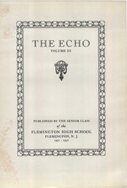 Page 5, 1932 Edition, Flemington High School - Echo Yearbook (Flemington, NJ) online yearbook collection