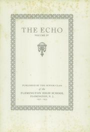 Page 5, 1933 Edition, Flemington High School - Echo Yearbook (Flemington, NJ) online yearbook collection