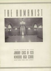 Page 5, 1939 Edition, Memorial High School - Humanist Yearbook (West New York, NJ) online yearbook collection