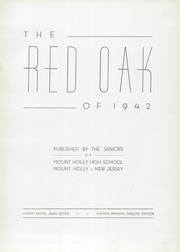 Page 7, 1942 Edition, Mount Holly High School - Red Oak Yearbook (Mount Holly, NJ) online yearbook collection