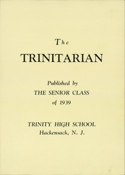 Page 5, 1939 Edition, Holy Trinity High School - Trinitarian Yearbook (Hackensack, NJ) online yearbook collection