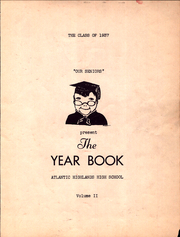 Page 5, 1937 Edition, Atlantic Highlands High School - Atrecall Yearbook (Atlantic Highlands, NJ) online yearbook collection