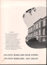 Page 6, 1953 Edition, Atlantic Highlands High School - Atrecall Yearbook (Atlantic Highlands, NJ) online yearbook collection