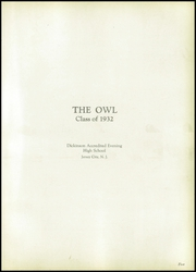 Page 11, 1932 Edition, Dickinson Accredited Evening High School - Owl Yearbook (Jersey City, NJ) online yearbook collection