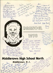 Page 5, 1978 Edition, Middletown High School North - Odranoel Yearbook (Middletown, NJ) online yearbook collection