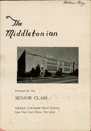 Page 3, 1948 Edition, Middle Township High School - Middletonian Yearbook (Cape May Court House, NJ) online yearbook collection