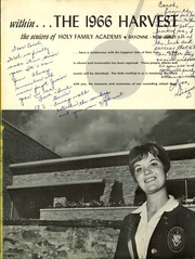 Page 5, 1966 Edition, Holy Family Academy - Harvest Yearbook (Bayonne, NJ) online yearbook collection