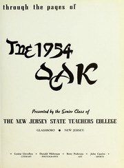 Page 7, 1954 Edition, Rowan College - Oak Yearbook (Glassboro, NJ) online yearbook collection