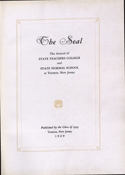 Page 5, 1929 Edition, New Jersey State Teachers College - Seal Yearbook (Trenton, NJ) online yearbook collection