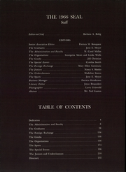 Page 6, 1966 Edition, New Jersey State Teachers College - Seal Yearbook (Trenton, NJ) online yearbook collection
