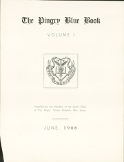 Page 7, 1908 Edition, Pingry School - Blue Book Yearbook (Elizabeth, NJ) online yearbook collection