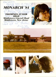 Page 5, 1984 Edition, Thompson Middle School - Monarch Yearbook (Middletown, NJ) online yearbook collection