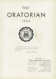 Page 5, 1953 Edition, Oratory Preparatory School - Oratorian Yearbook (Summit, NJ) online yearbook collection