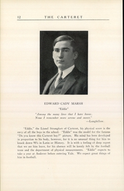 Page 14, 1926 Edition, Carteret Academy - Carteret Yearbook (Orange, NJ) online yearbook collection