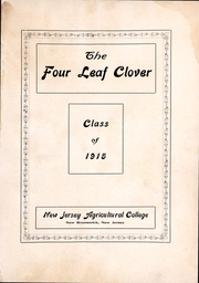 Page 2, 1915 Edition, New Jersey Agricultural College - Four Leaf Clover Yearbook (New Brunswick, NJ) online yearbook collection